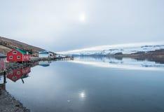 O cenário bonito de Islândia do leste fotografia de stock