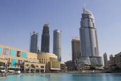 O cenário da alameda de Dubai Foto de Stock