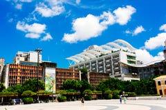 O cenário da construção de Macau Imagens de Stock