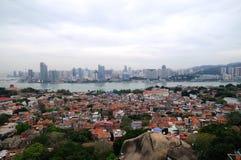 O cenário da ilha de Gulangyu e do Xiamen fotografia de stock