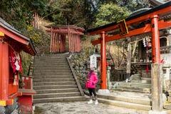 """O cenário da manhã do santuário de Inari toku do tempo YÅ do """"é impressionante para os viajantes que podem olhar a névoa da manhã fotos de stock royalty free"""