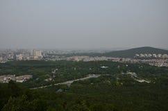 O cenário da montanha de Yunlong em Xuzhou, China na mola fotografia de stock royalty free