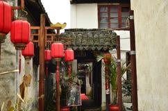 O cenário de Zhouzhuang em Suzhou, China no inverno Imagem de Stock