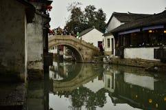 O cenário de Zhouzhuang em Suzhou, China no inverno Foto de Stock