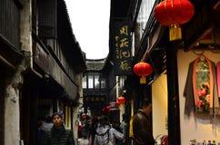 O cenário de Zhouzhuang em Suzhou, China no inverno Imagem de Stock Royalty Free