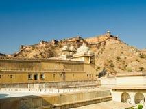 O cenário dentro de Amber Fort em Jaipur, Índia Fotos de Stock Royalty Free