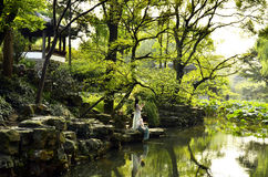 O cenário do jardim do administrador humilde em Suzhou, China Foto de Stock Royalty Free