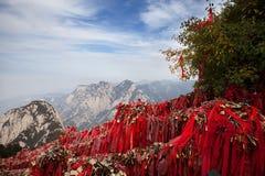 O cenário em Huashan foto de stock