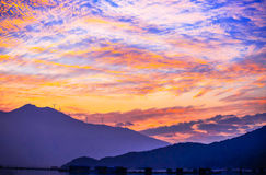O cenário natural de Nanaodao no crepúsculo Fotos de Stock Royalty Free