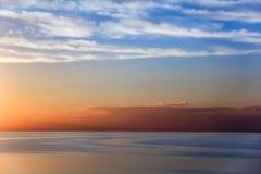 O cenário no mar de Azov Fotografia de Stock
