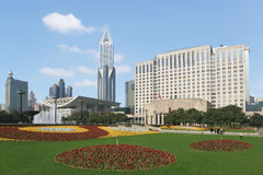 O cenário quadrado do pessoa de Shanghai Imagens de Stock Royalty Free