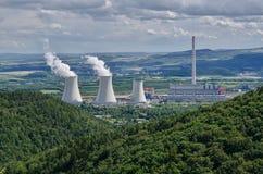 O central elétrica de Prunerov II Imagem de Stock