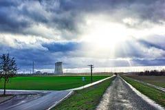 O central nuclear é interrompido imagens de stock royalty free