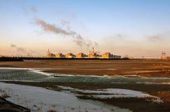 O central nuclear o mais grande de Zaporizhzhya em Europa Imagem de Stock Royalty Free