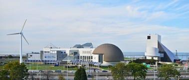O centro da ciência dos grandes lagos em Cleveland, Ohio Fotografia de Stock