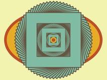 O centro da ilusão ilustração royalty free