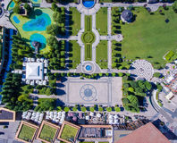 O centro de cidade de Iasi jardina, Moldova, Romênia foto de stock royalty free