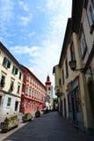 O centro de cidade e a torre Ptuj Styria slovenia Fotos de Stock