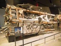 O centro de comércio da antena no topo do mundo destruiu em setembro o 11o Foto de Stock Royalty Free