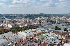 O centro de Lviv Foto de Stock