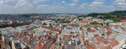 O centro de Lviv Foto de Stock Royalty Free
