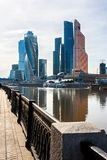 O centro de negócios do International de Moscovo foto de stock royalty free