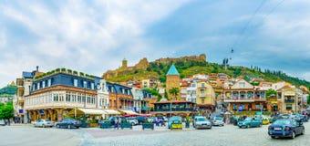O centro de Tbilisi Fotos de Stock Royalty Free