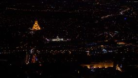 O centro de Tbilisi na noite geórgia Foco macio vídeos de arquivo