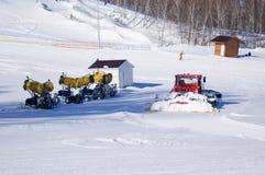 O centro do montanha-esqui Fotos de Stock Royalty Free
