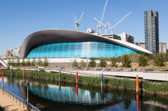 O centro dos Aquatics de Londres Imagens de Stock Royalty Free
