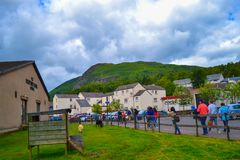 O centro escocês de lãs em Aberfoyle, Stirling, Escócia imagens de stock royalty free