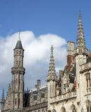 O centro histórico de Bruges, Bélgica, parte do local do patrimônio mundial do UNESCO fotos de stock royalty free