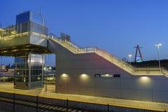 O centro intermodal regional bonito do trânsito de Anaheim fotos de stock royalty free