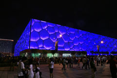 O centro nacional de Aquatics em beijing Fotografia de Stock