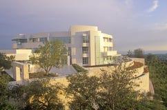 O centro no por do sol, Brentwood de Getty, Califórnia Imagens de Stock