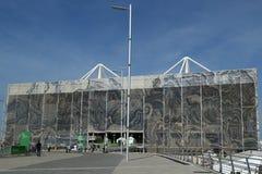 O centro olímpico dos Aquatics em Rio Olympic Park durante o Rio 2016 Jogos Olímpicos foto de stock royalty free