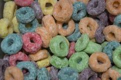 O cereal circular flavored frutado Fotos de Stock