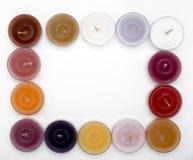 O chá candles o frame Foto de Stock Royalty Free