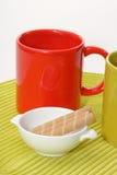 O chá da manhã fotografia de stock