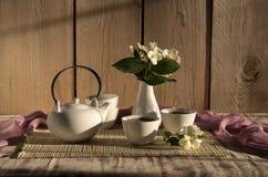 O chá da manhã em uns copos Fotografia de Stock