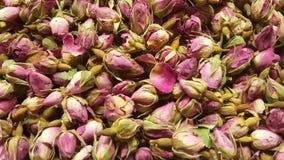 O chá da sultão ou o chá cor-de-rosa venderam no mercado da especiaria em Turquia foto de stock