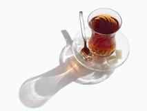 O chá e são silhueta Imagem de Stock