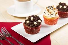 O chá endurece? os bolinhos doces, redondos rolados no açúcar pulverizado Fotos de Stock Royalty Free