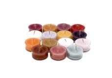 O chá ilumina velas Imagem de Stock