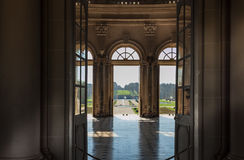 O Château de Vaux-le-Vicomte, salão principal interior Foto de Stock