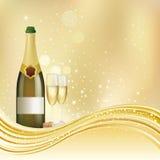 o champanhe comemora o fundo ilustração stock