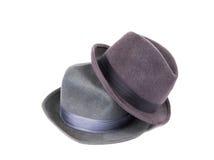 O chapéu dos homens isolado Fotografia de Stock