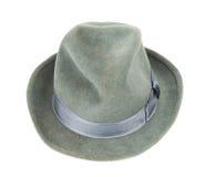 O chapéu dos homens isolado Imagens de Stock Royalty Free