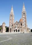 O Chatedral de Szeged, Hungria Fotos de Stock Royalty Free