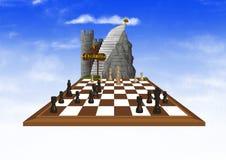 O Checkmate do deus ilustração royalty free